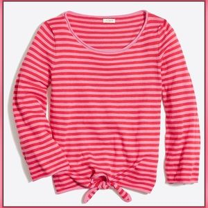 J. Crew NEW long Sleeve Festival Red Striped Large